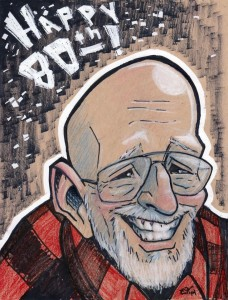 Caricature I drew of him for his 80th birthday.